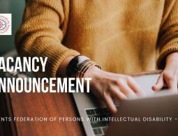 Vacancy announcement poster.